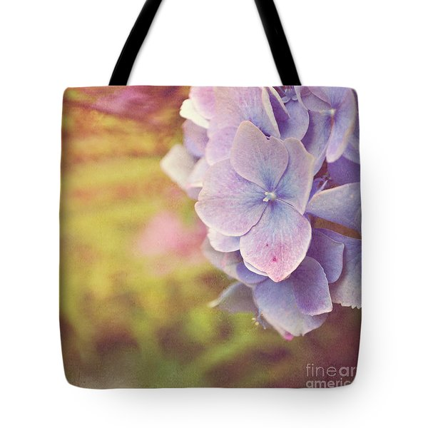 Tote Bag featuring the photograph Purple Hydrangea by Lyn Randle