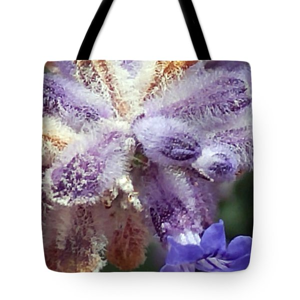 Purple Iced Blue New Mexico Wildflower Tote Bag