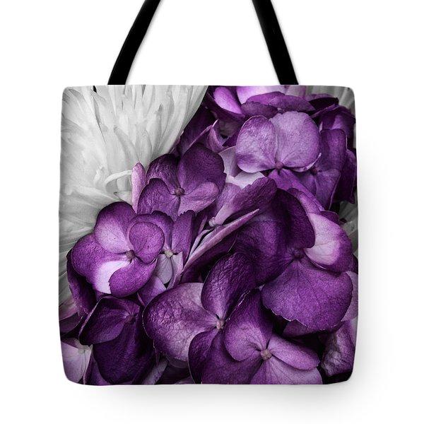 Purple In The White Tote Bag
