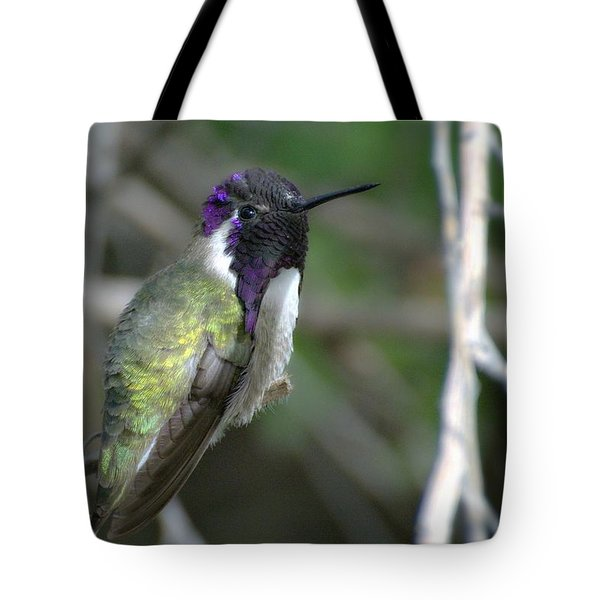 Tote Bag featuring the photograph Purple Iridescence 2 by Fraida Gutovich