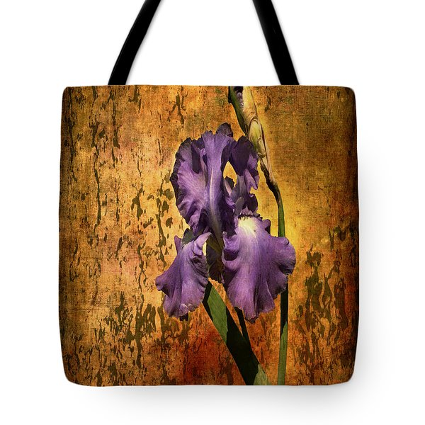 Purple Iris At Sunset Tote Bag