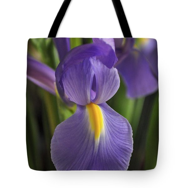 Purple Iris Tote Bag