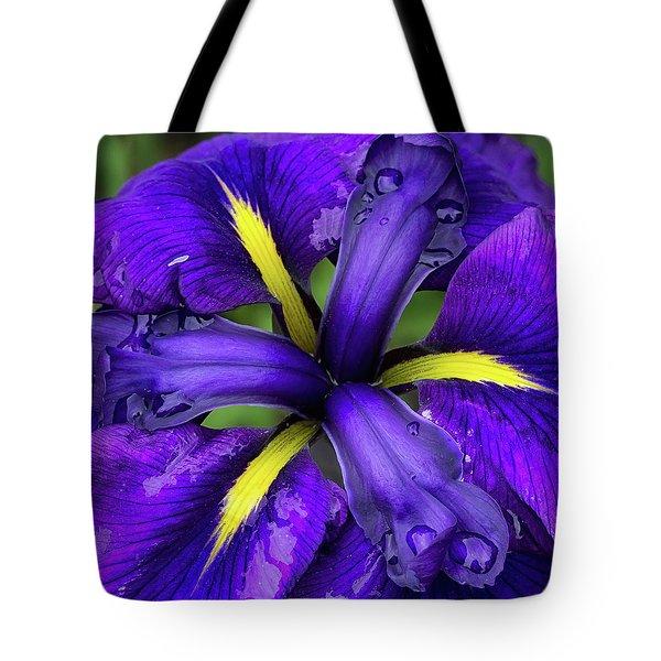 Purple Iris Centre Tote Bag