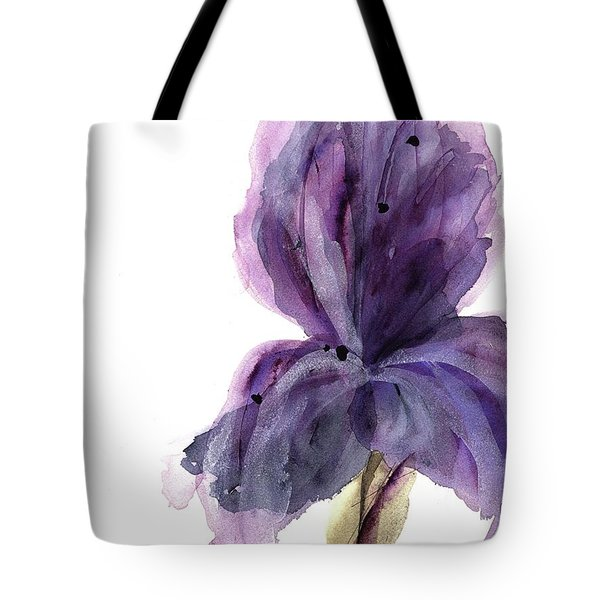 Purple Iris Tote Bag by Dawn Derman