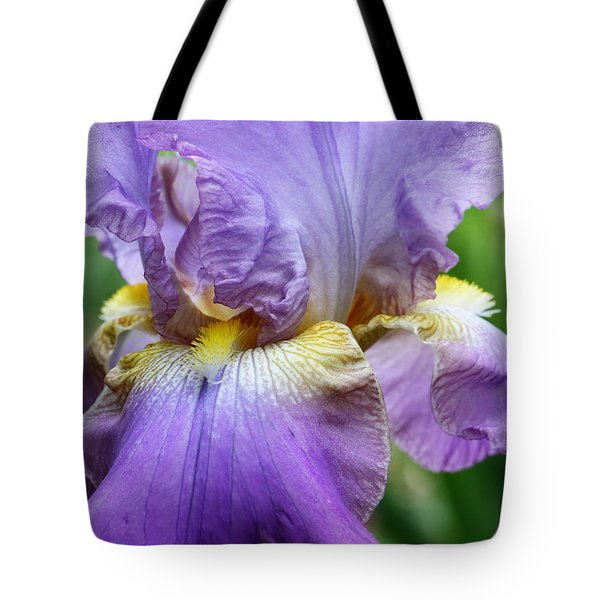 Purple Iris Flower Tote Bag