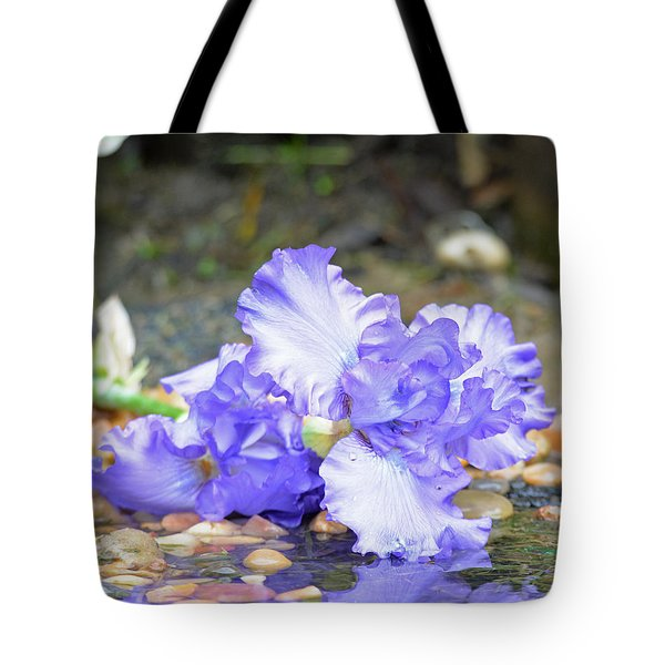 Purple Iris Reflection Tote Bag