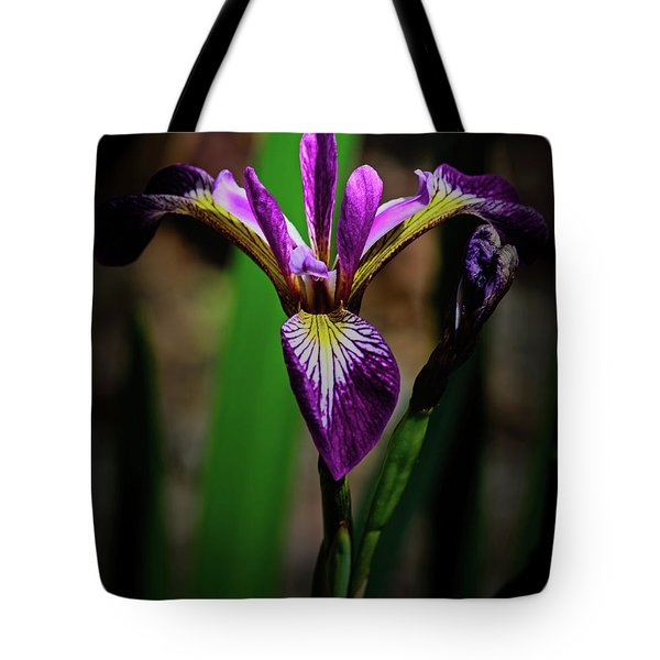 Tote Bag featuring the photograph Purple Iris by Tikvah's Hope