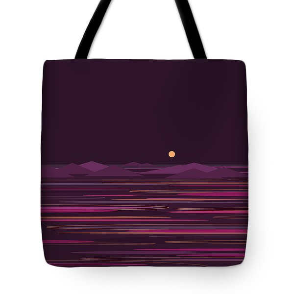 Purple Isle Tote Bag by Val Arie