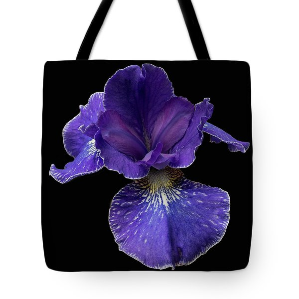 Tote Bag featuring the photograph Purple Japanese Iris by Jean Noren