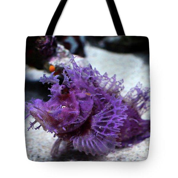 Purple Lace Tote Bag
