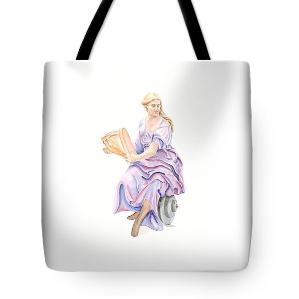 Tote Bag featuring the painting Purple Lady by Elizabeth Lock