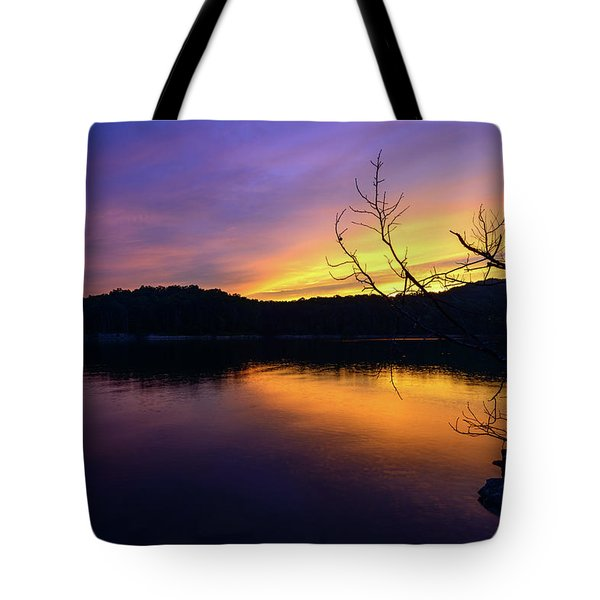 Purple Lake Tote Bag