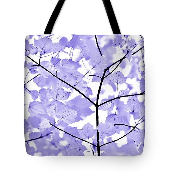 Purple Lavender Leaves Melody Tote Bag by Jennie Marie Schell