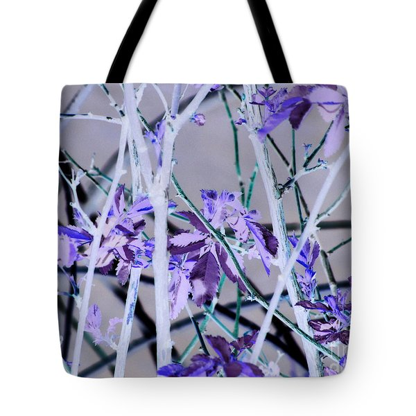 Purple Leaves Tote Bag