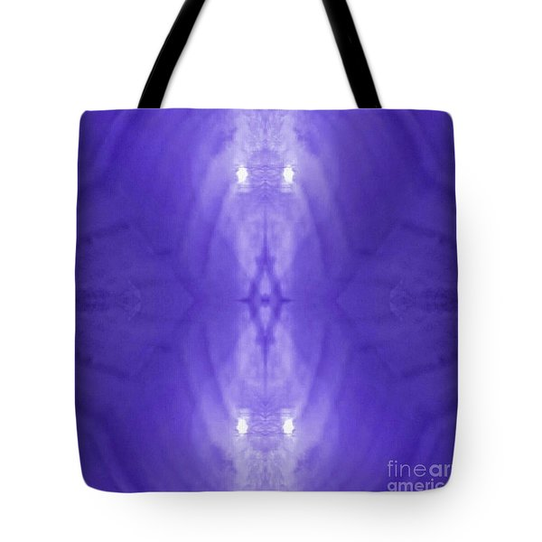 Purple Light Phantom  Tote Bag by Rachel Hannah