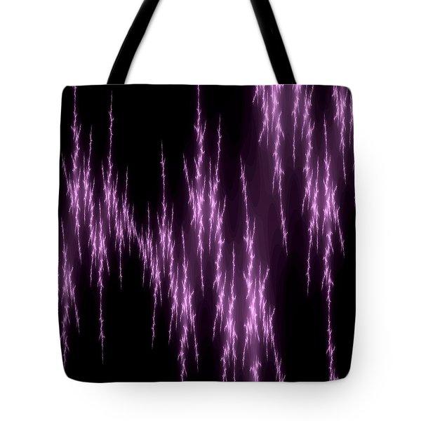 Purple Lightening Tote Bag