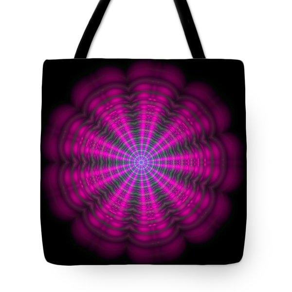 Purple Lightmandala Ripples Tote Bag