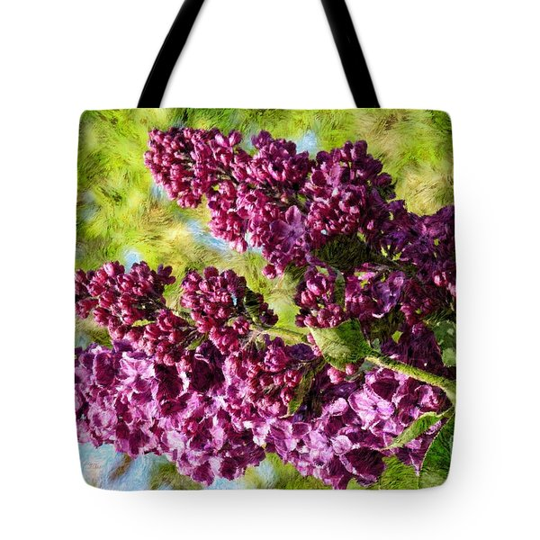 Purple Lilac 1 Tote Bag by Jean Bernard Roussilhe