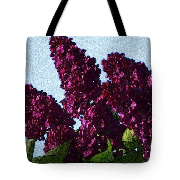Purple Lilac 3 Tote Bag by Jean Bernard Roussilhe