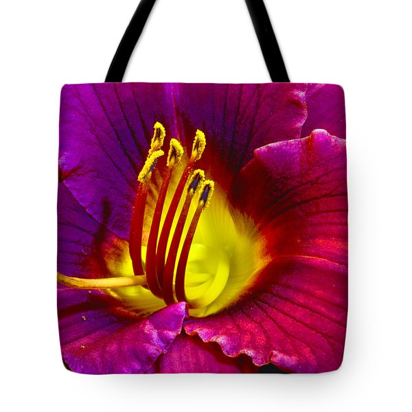 Tote Bag featuring the photograph Purple Lily by Bill Barber