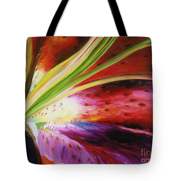 Purple Lily Tote Bag