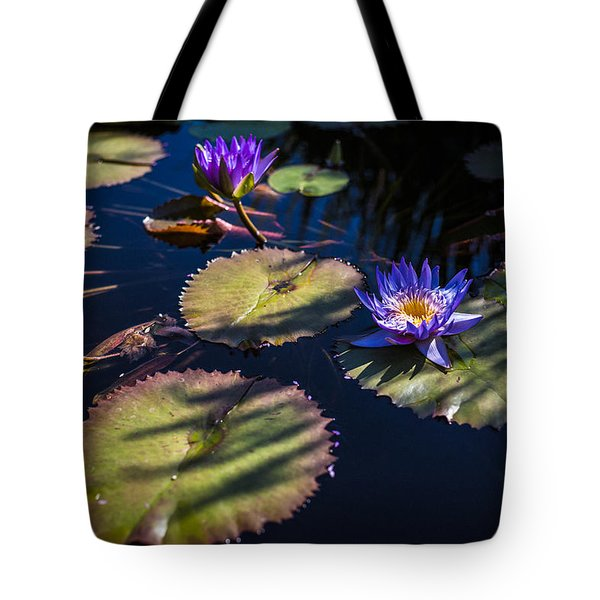 Tote Bag featuring the photograph Purple Lily by Jason Roberts
