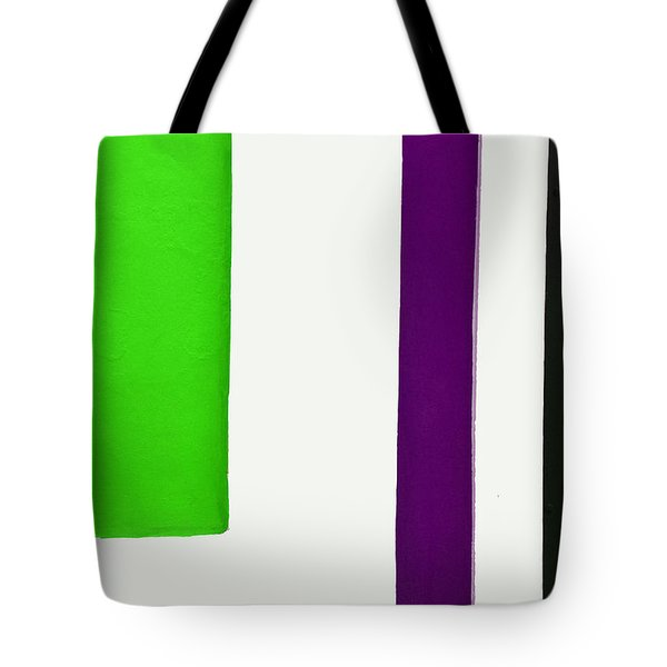 Purple Line Tote Bag