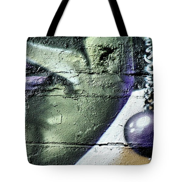 Purple Lips And Earring Tote Bag