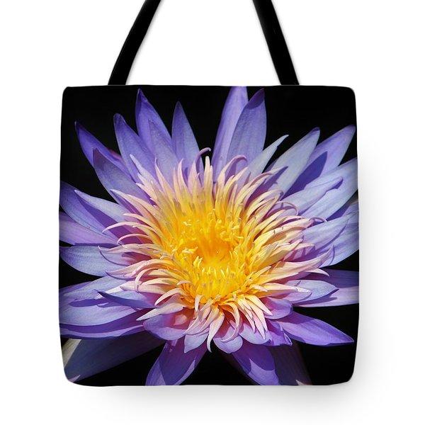 Purple Lotus Tote Bag