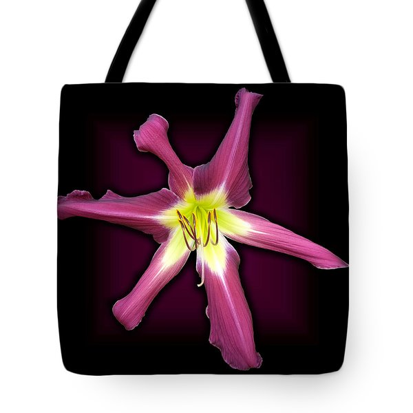 Purple Many Faces Daylily Tote Bag by Tara Hutton