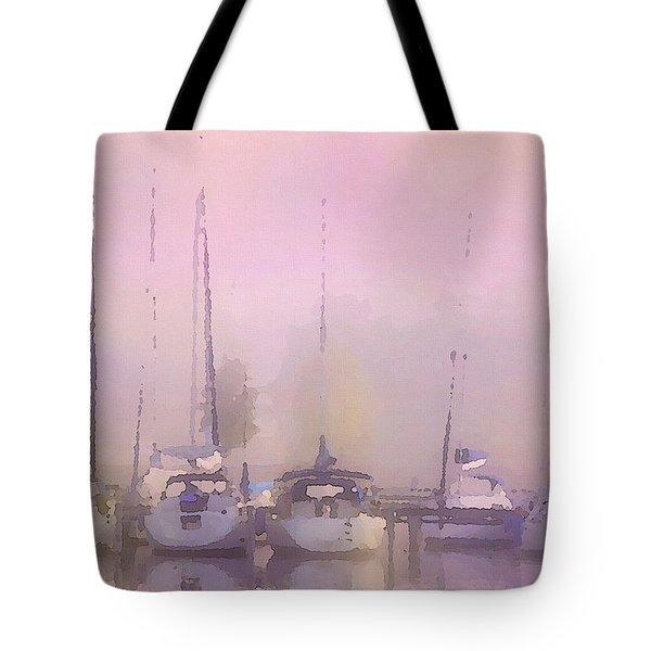 Purple Marina Morning Tote Bag