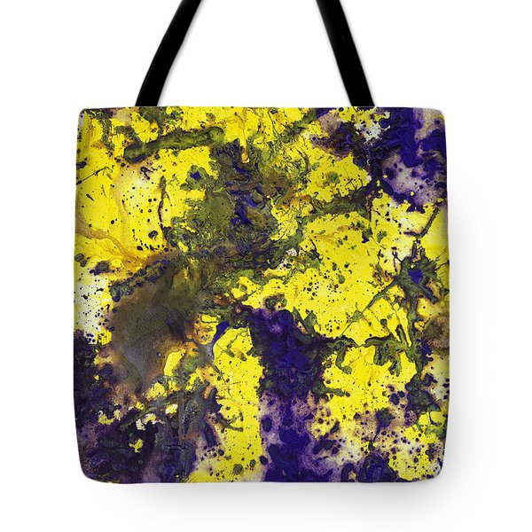 Purple Married Yellow Tote Bag