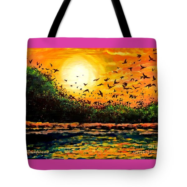 Purple Martin Migration Tote Bag