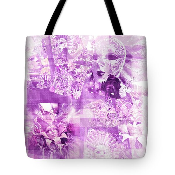 Purple Mask Craziness Tote Bag