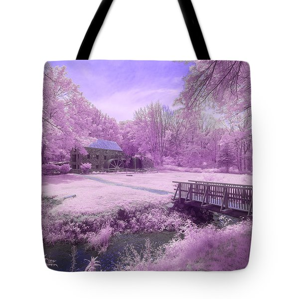 Tote Bag featuring the photograph Purple Mill by Brian Hale