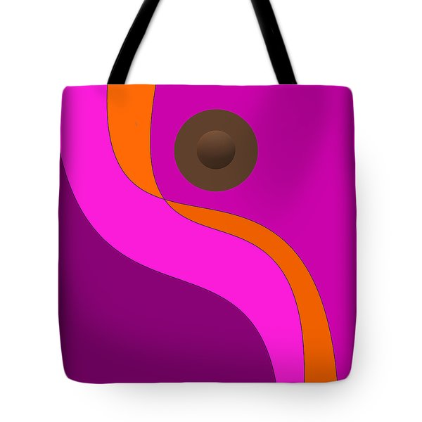 Purple Minimalism - Abstract Tote Bag