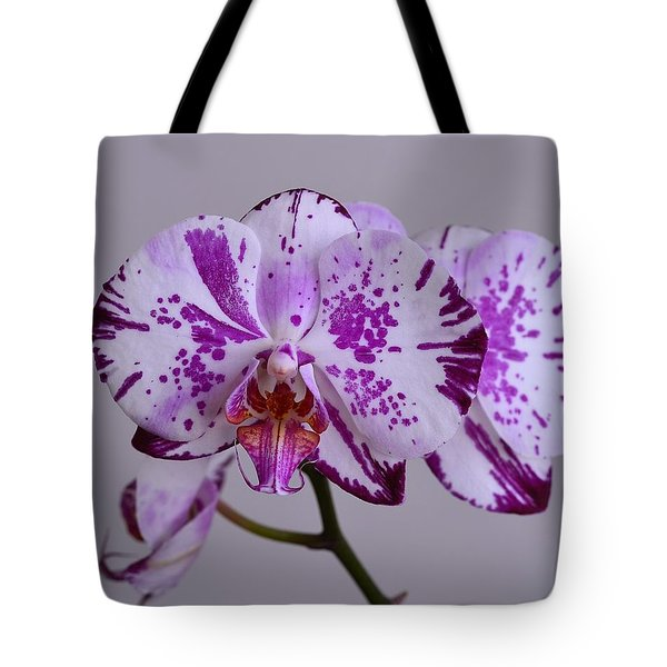 Purple Moth Orchid Tote Bag