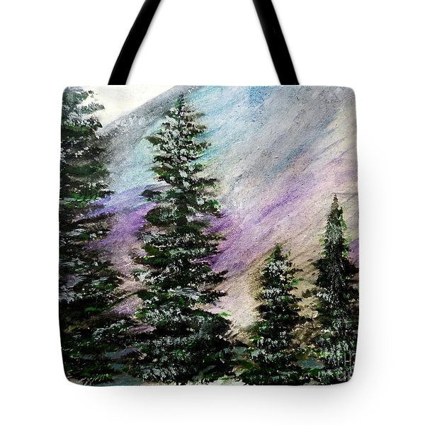 Purple Mountain Majesty Tote Bag by Scott D Van Osdol