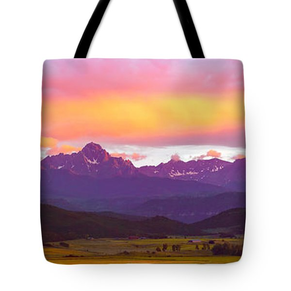 Purple Mountains Panorama Tote Bag