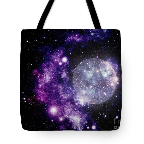 Purple Nebula Tote Bag by Kelly Awad