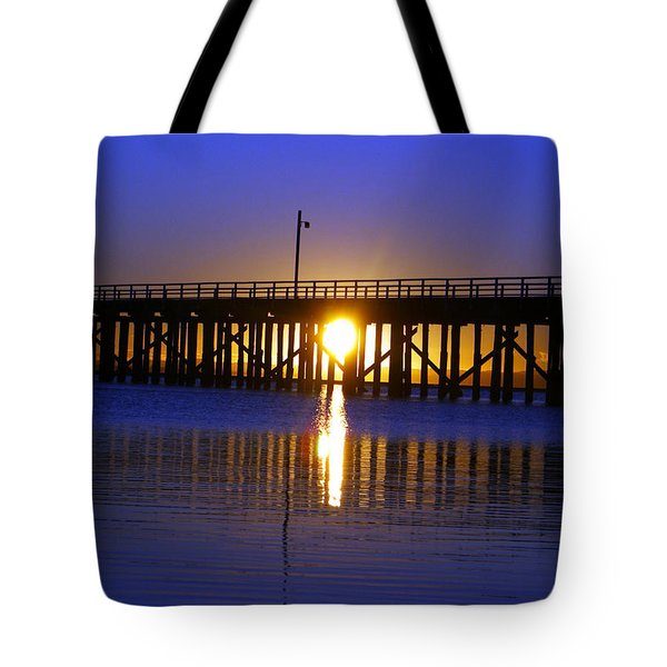 Purple Ocean Sunrise Tote Bag
