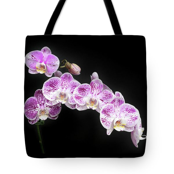 Purple On White On Black Tote Bag