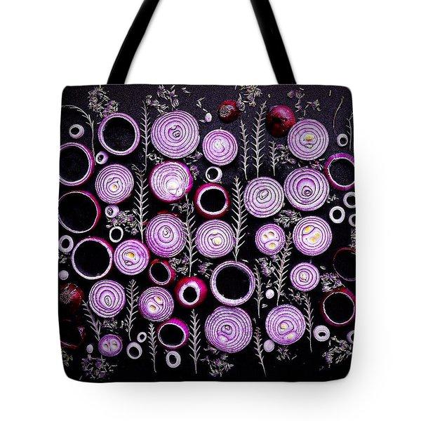 Purple Onion Patterns Tote Bag
