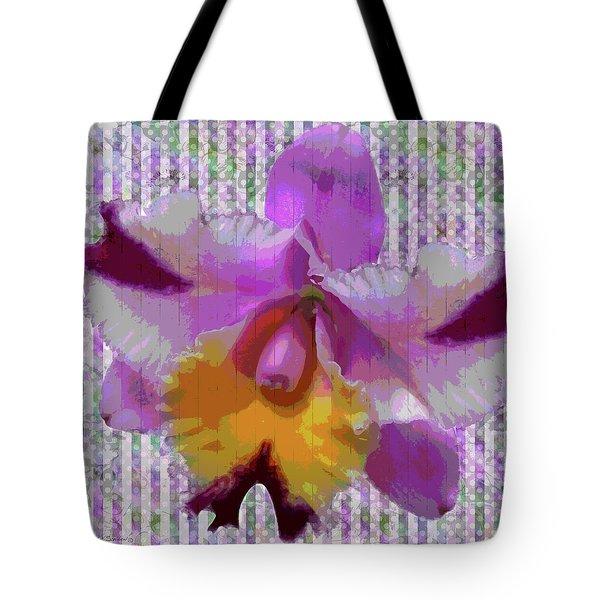 Purple Orchid Design Tote Bag by Rosalie Scanlon