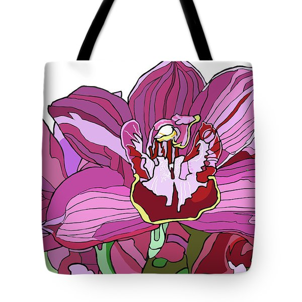 Purple Orchid Tote Bag by Jamie Downs