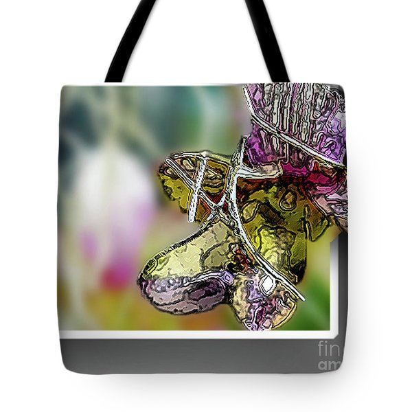 Purple Orchid Pop Tote Bag