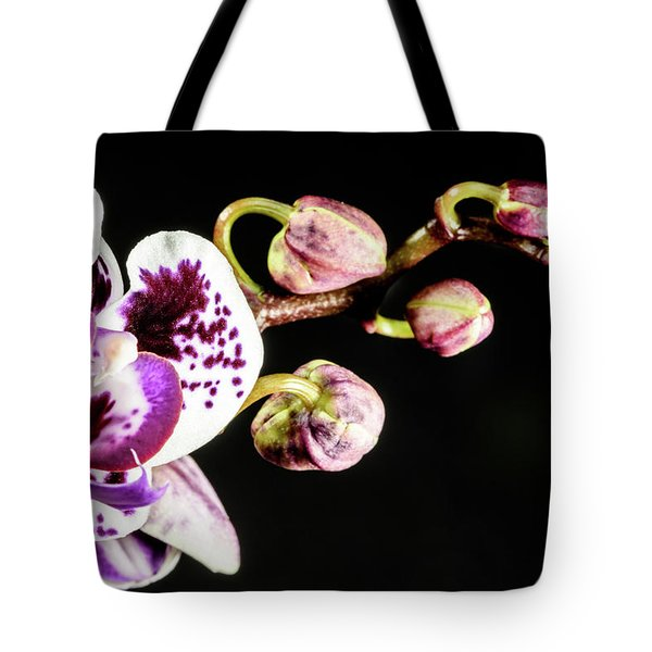 Purple Orchid Reaching Out Tote Bag