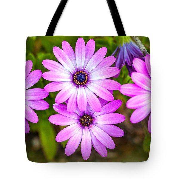 Tote Bag featuring the photograph Purple Pals by Az Jackson