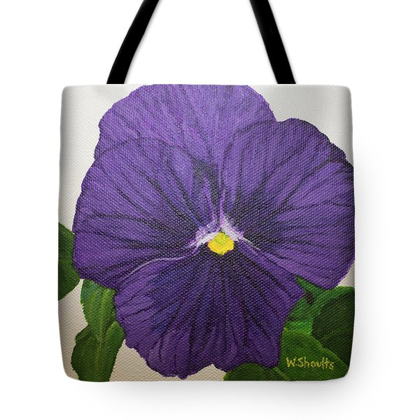 Purple Pansy Tote Bag by Wendy Shoults