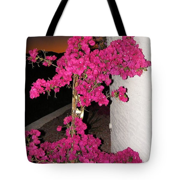 Purple Passion Against Desert Sunset Tote Bag